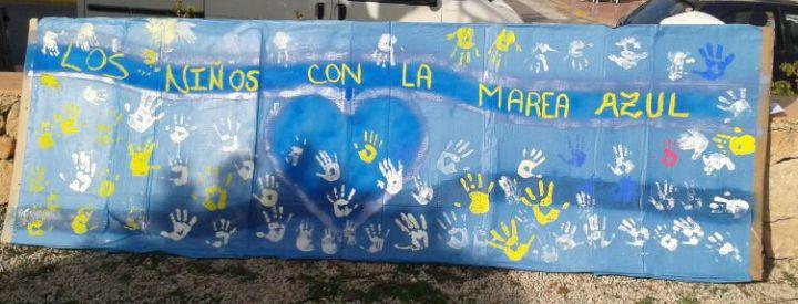 Pancarta que llevarán los niños a la mani del 22