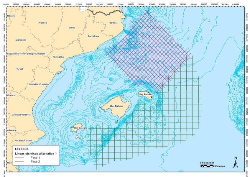 Campaña sísmica 2D en áreas libres del Mediterráneo noroccidental – mar Balear