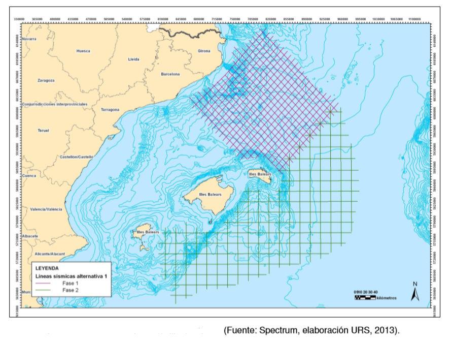 Campaña sísmica 2D en áreas libres del Mediterráneo noroccidental, mar Balear