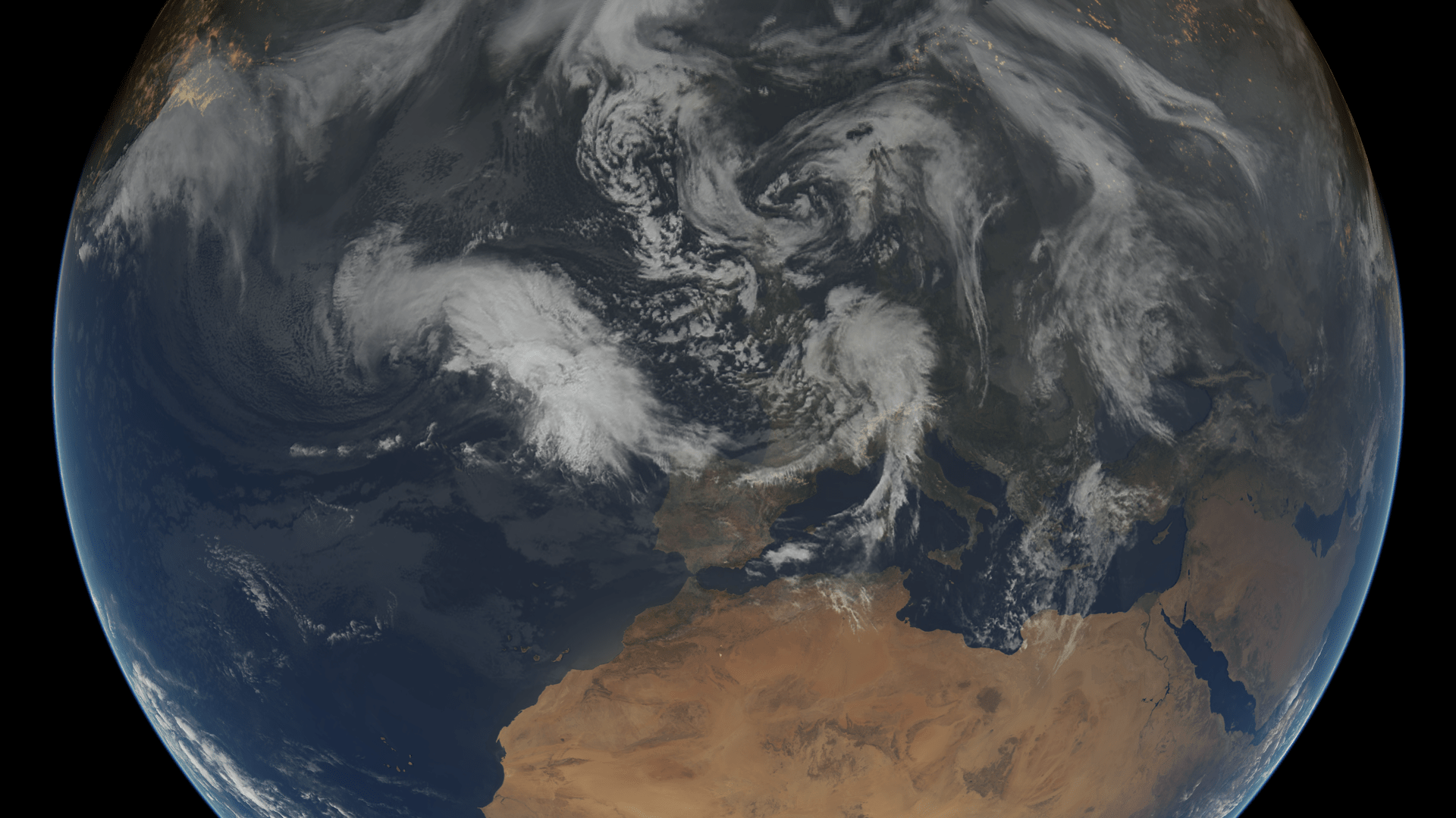 the weather situation over Europe on 13 February 2014