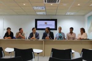 Imagen de la rueda de prensa de la consejería de Medio Ambiente con Alianza Mar Blava y los consejos insulares de Menorca e Ibiza