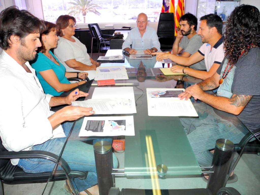 firma convenio Aliança Mar Blava 2015