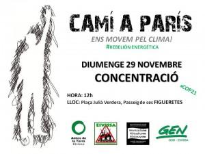 151122 [Adt Ibiza] cartel acte COP21 29 novembre amb logos2