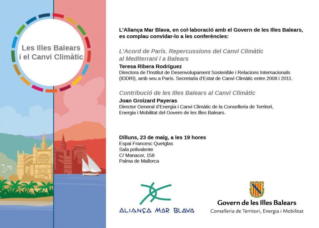 160524 Palma vCAT tarjeton jornada - las Islas Baleares y el Cambio Climatico
