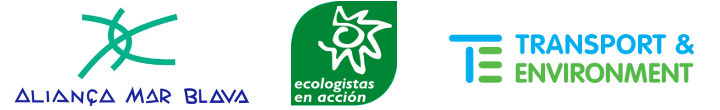 Ecologistas en Acción, Transport and Environment y Alianza Mar Blava.